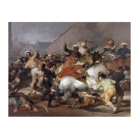 pinturas do retrato - Quadro -El 2 de mayo de 1808, la carga de los Mamelucos-