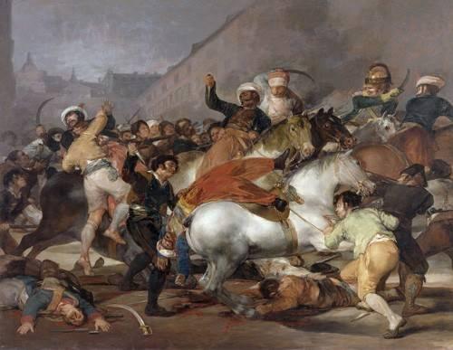 pinturas-de-retratos - Quadro -El 2 de mayo de 1808, la carga de los Mamelucos- - Goya y Lucientes, Francisco de