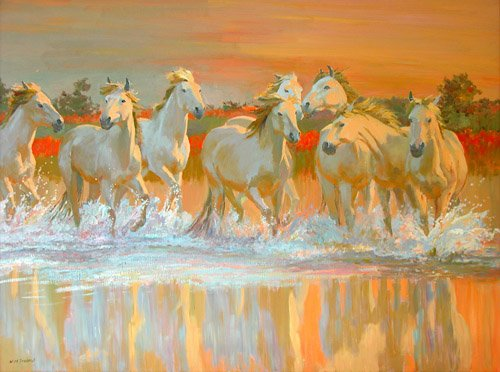 quadros-modernos - Quadro -Camargue- - Ireland, William