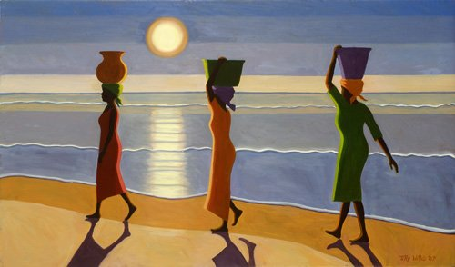 quadros-etnicos-e-orientais - Quadro -By the Beach, 2007- - Willis, Tilly