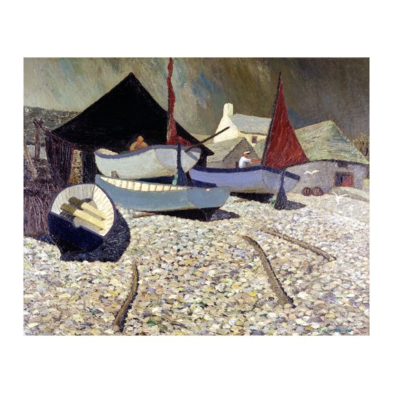 Quadro -Cadgwith, the Lizard (oil on canvas)-