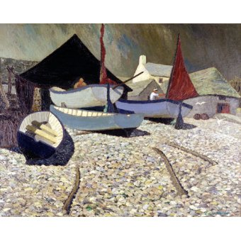 quadros de paisagens marinhas - Quadro -Cadgwith, the Lizard (oil on canvas)- - Hains, Eric