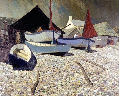 quadros-para-sala - Quadro -Cadgwith, the Lizard (oil on canvas)- - Hains, Eric