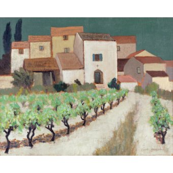 - Quadro -Vineyard, Provence - - Hains, Eric