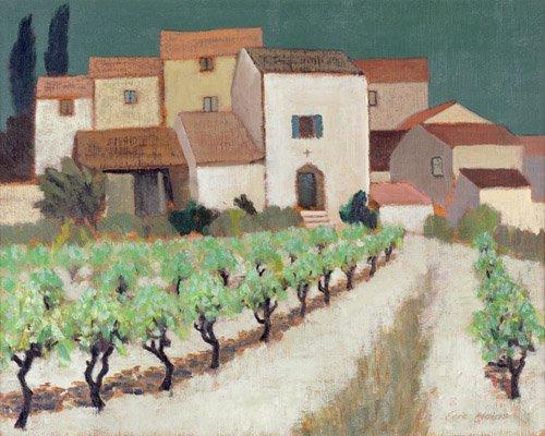 quadros-para-sala - Quadro -Vineyard, Provence - - Hains, Eric