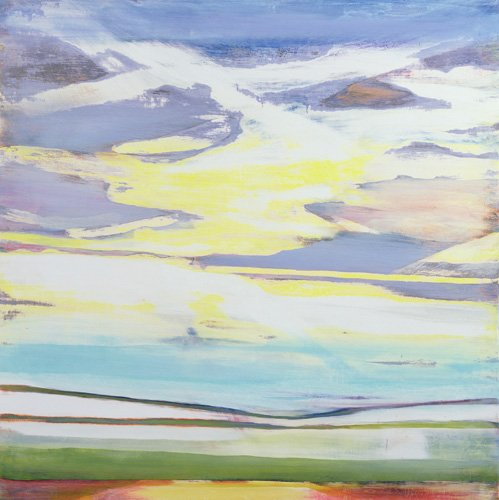 quadros-abstratos - Quadro -Landscape (mixed media)- - Gibbs, Lou
