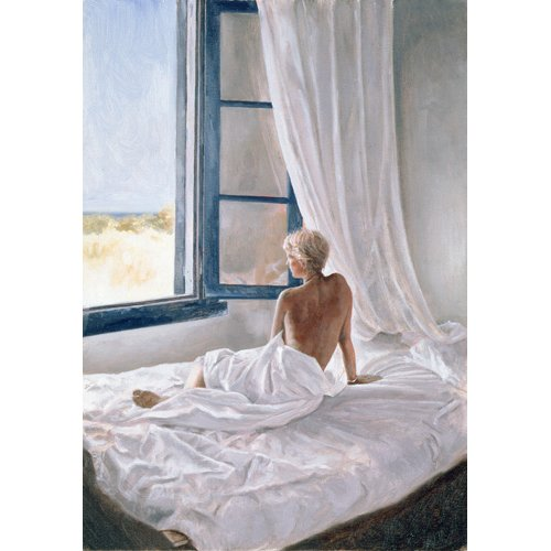 Quadro -Afternoon View (oil on canvas)-