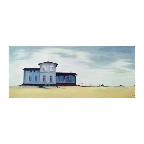 Quadro -Wide Blue (oil on canvas)-