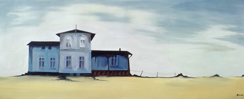 quadros-de-paisagens - Quadro -Wide Blue (oil on canvas)- - Bianchi, Ana