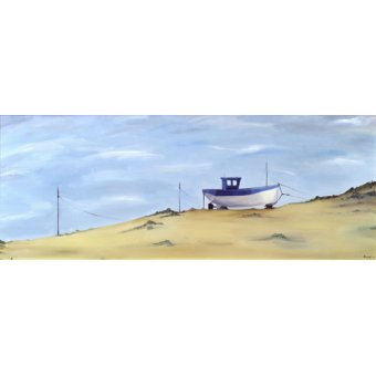 quadros de paisagens - Quadro -Beached (oil on canvas)- - Bianchi, Ana