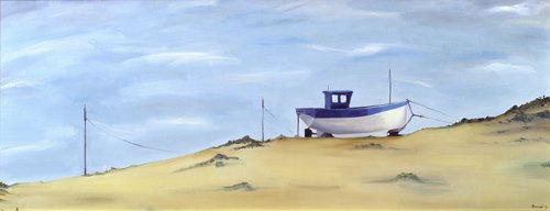quadros-de-paisagens - Quadro -Beached (oil on canvas)- - Bianchi, Ana