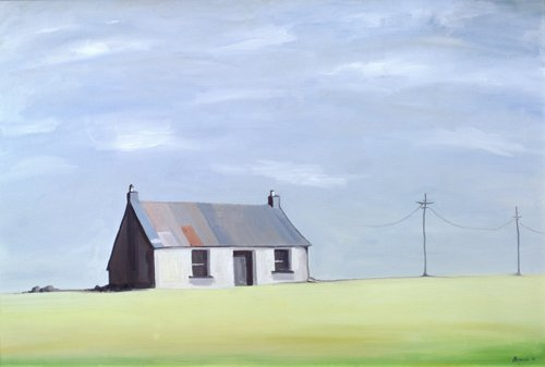 quadros-de-paisagens - Quadro -This Old House (oil on canvas)- - Bianchi, Ana
