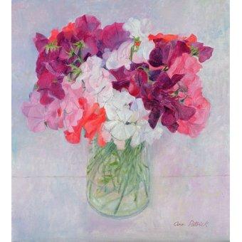 quadros de flores - Quadro -Sweet Peas, 1999- - Patrick, Ann