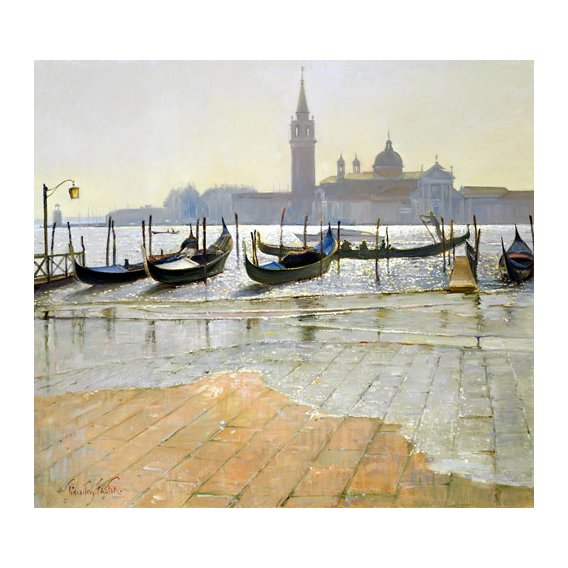 Quadro -Venice at Dawn (oil on canvas)-