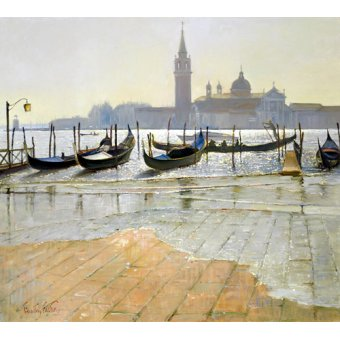 Quadros modernos - Quadro -Venice at Dawn (oil on canvas)- - Easton, Timothy
