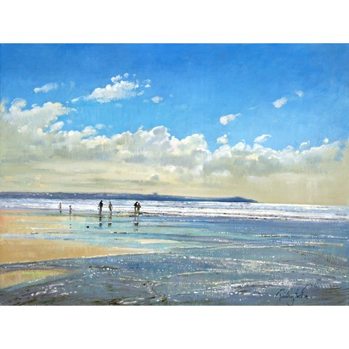 Quadro -Paddling at the Edge (oil on canvas) -