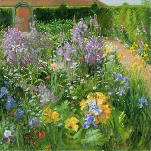 Quadro -Sweet Rocket, Foxgloves and Irises, 2000 -
