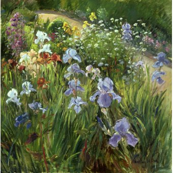 quadros de flores - Quadro - Irises and Oxeye Daisies, 1997 - - Easton, Timothy