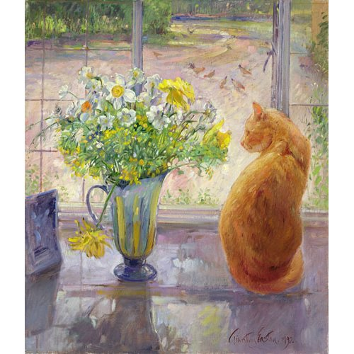 Quadro - Striped Jug With Spring Flowers, 1992 -