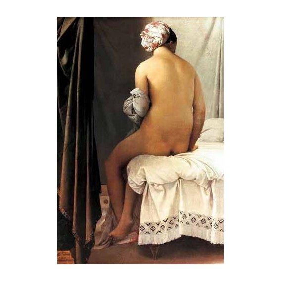 pinturas do retrato - Quadro -La bañista de Valpincon, 1808-