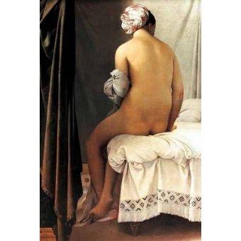 quadros nu artistico - Quadro -La bañista de Valpincon, 1808- - Ingres, Jean-Auguste-Dominique