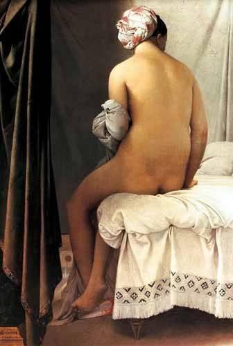pinturas-de-retratos - Quadro -La bañista de Valpincon, 1808- - Ingres, Jean-Auguste-Dominique