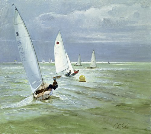 quadros-de-paisagens-marinhas - Quadro - Around the Buoy (oil on canvas) - - Easton, Timothy