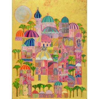 quadros étnicos e orientais - Quadro -The Golden City, 1993-94 - - Shawa, Laila