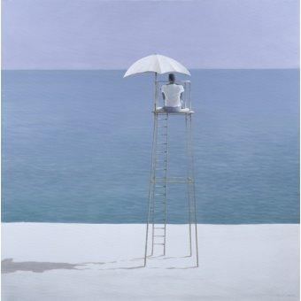 quadros de paisagens marinhas - Quadro -Beach Guard, 2004 - - Seligman, Lincoln