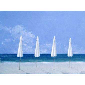 quadros de paisagens marinhas - Quadro -Beach Umbrellas, 2005 - - Seligman, Lincoln