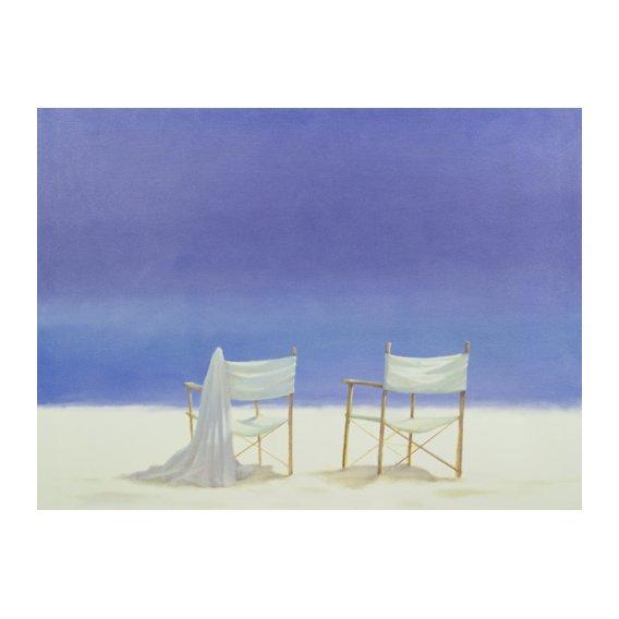 Quadro -Chairs on the beach, 1995 -