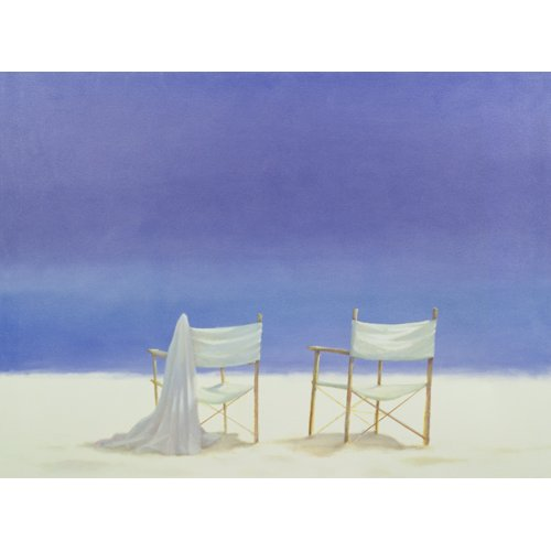 Quadro -Chairs on the beach, 1995 -
