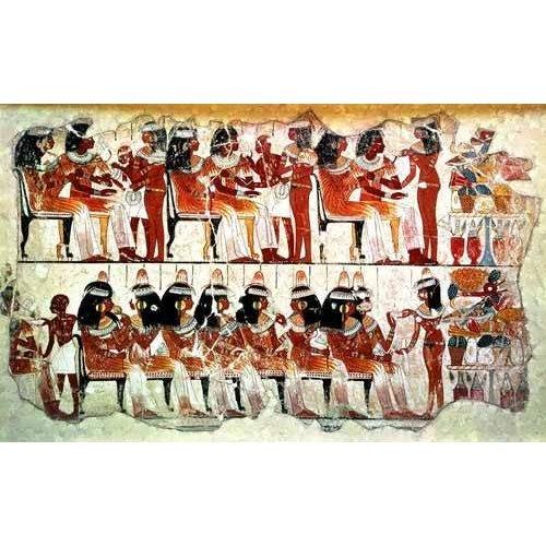 Quadro -Fresco en Thebes,- Banquete --