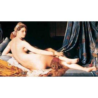 quadros nu artistico - Quadro -La Gran Odalisca, 1814- - Ingres, Jean-Auguste-Dominique