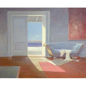 quadros de paisagens marinhas - Quadro -Beach House, 1995 - - Seligman, Lincoln