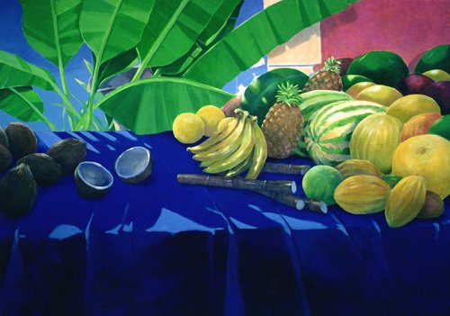 naturezas-mortas - Quadro -Tropical Fruit - - Seligman, Lincoln