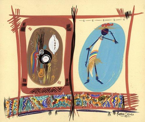 quadros-etnicos-e-orientais - Quadro - Element of Black culture, 2005 - - Perrin, Oglafa Ebitari