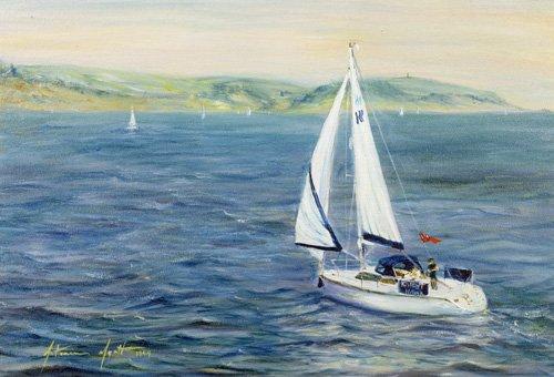 quadros-de-paisagens-marinhas - Quadro - Sailing Home, 1999 - - Myatt, Antonia