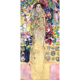 pinturas de retratos - Quadro -Retrato de Maria Munk, (1917-18)- - Klimt, Gustav