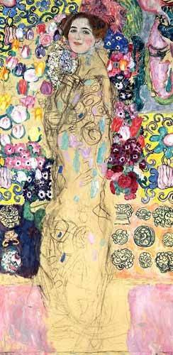 cuadros de retrato - Cuadro -Retrato de Maria Munk, (1917-18)- - Klimt, Gustav