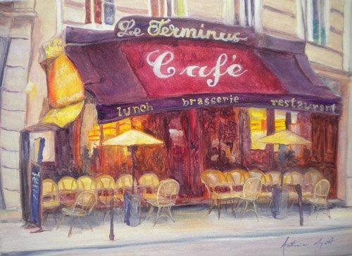 quadros-modernos - Quadro - Cafe le Terminus, 2010 - - Myatt, Antonia