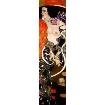 pinturas de retratos - Quadro -Judith 2 (Salomé)- - Klimt, Gustav