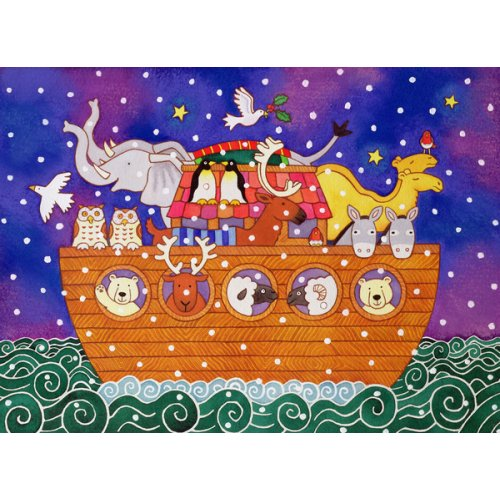 Quadro -Christmas Ark, 1999 (w.c and pastel on paper) -