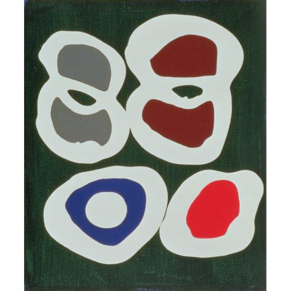 Quadro -Cross-Cut, 1998 (acrylic on canvas) -