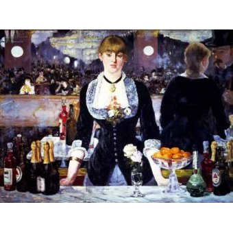 naturezas mortas - Quadro -El bar del Folies Bergeres, 1881- - Manet, Eduard