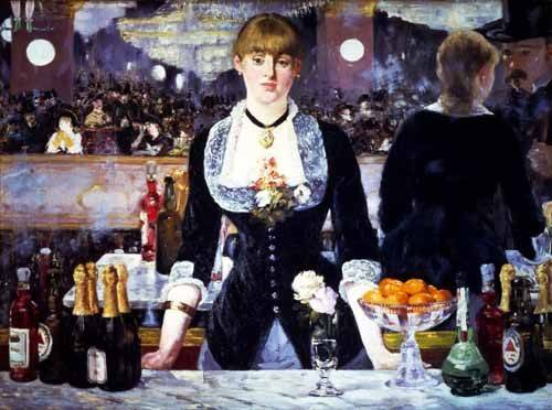 naturezas-mortas - Quadro -El bar del Folies Bergeres, 1881- - Manet, Eduard