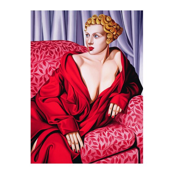 Quadro -Red Kimono (oil on canvas)-