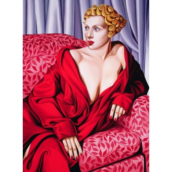 - Quadro -Red Kimono (oil on canvas)- - Abel, Catherine