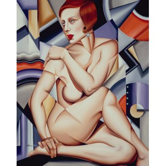 - Quadro -Cubist Nude (oil on canvas)- - Abel, Catherine