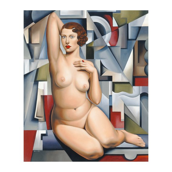 Quadro -Seated Cubist Nude (oil on canvas)-